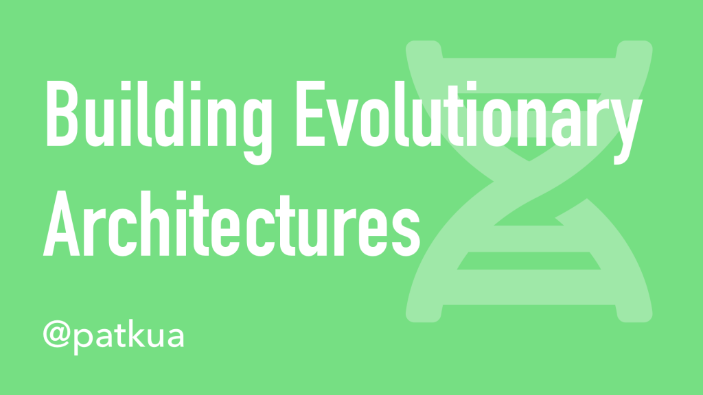 Building Evolutionary Architectures Cover Slide
